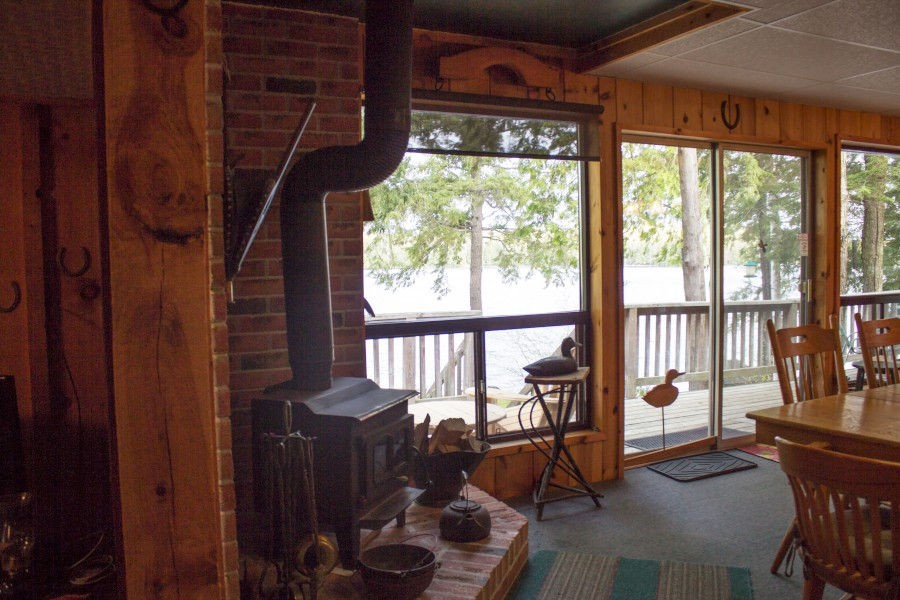 Wood Stove in Dining/Living Area