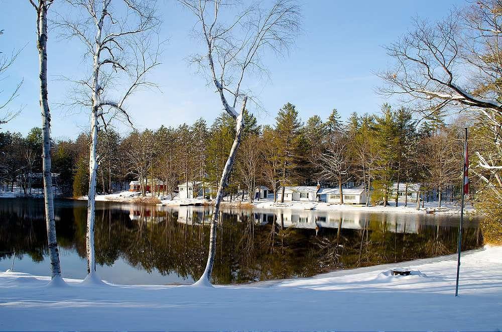 Quiet bay in the winter