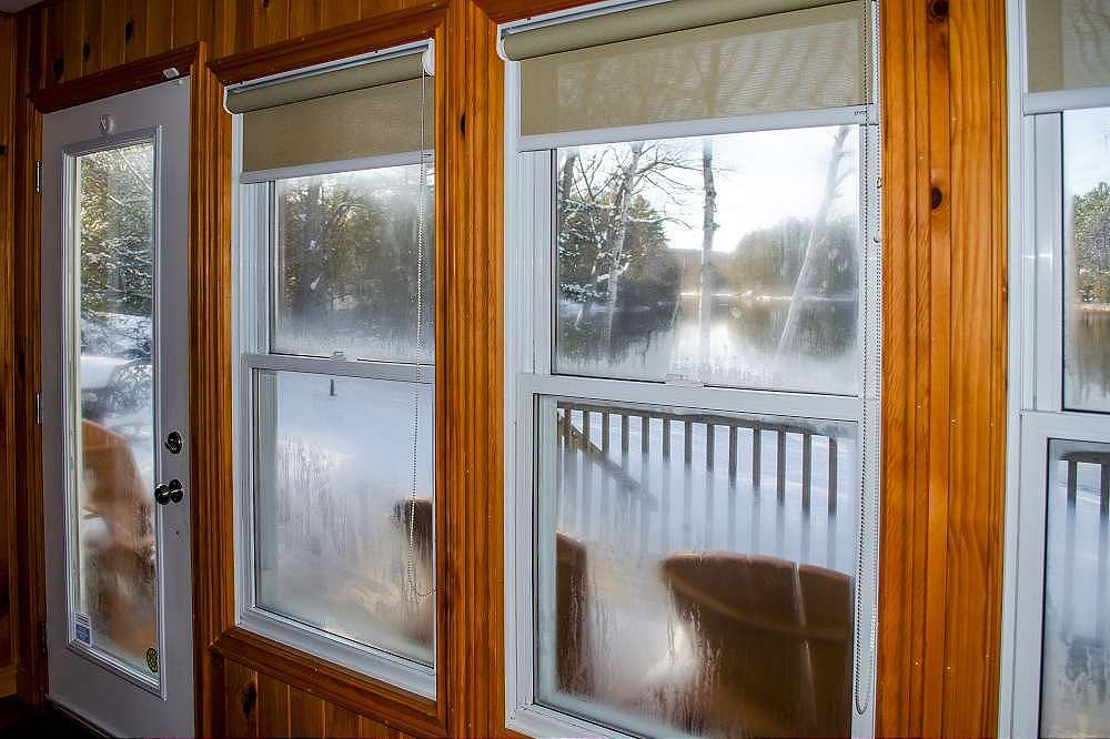 Frosty winter view from the sunroom