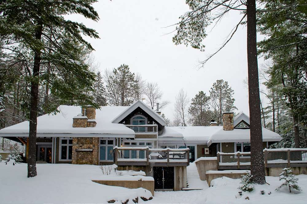 Snowy exterior from the Lake