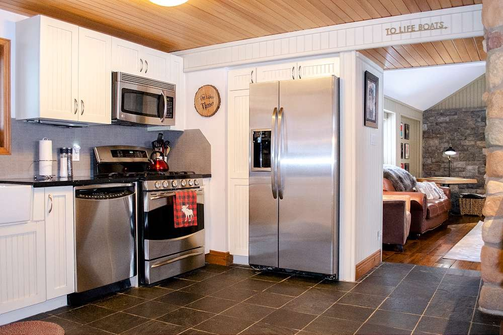 Kitchen with entrance to Games Room