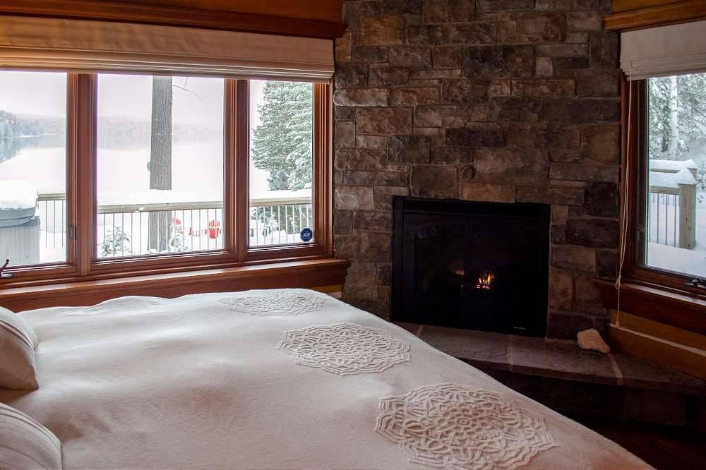 Master Suite Fireplace and view