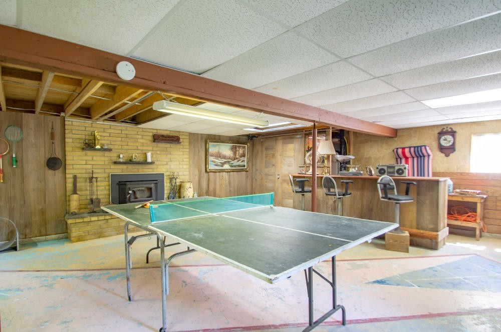 Partially Finished Basement - Games Area