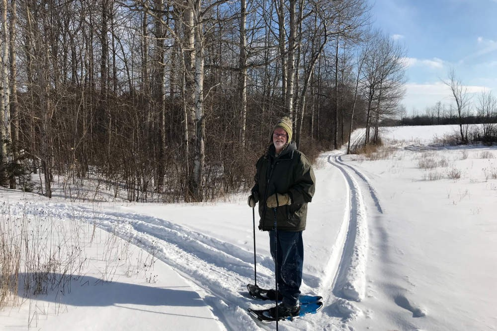 Snowshoeing on your own Trails