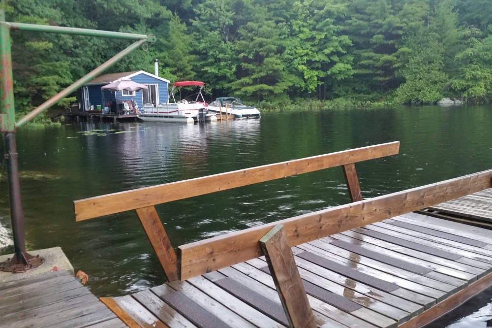 View From Dock of Inner Bay and Owner's Bunkie