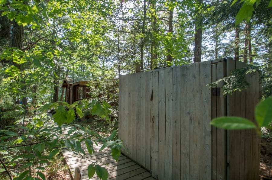 Outdoor Shower and Cottage