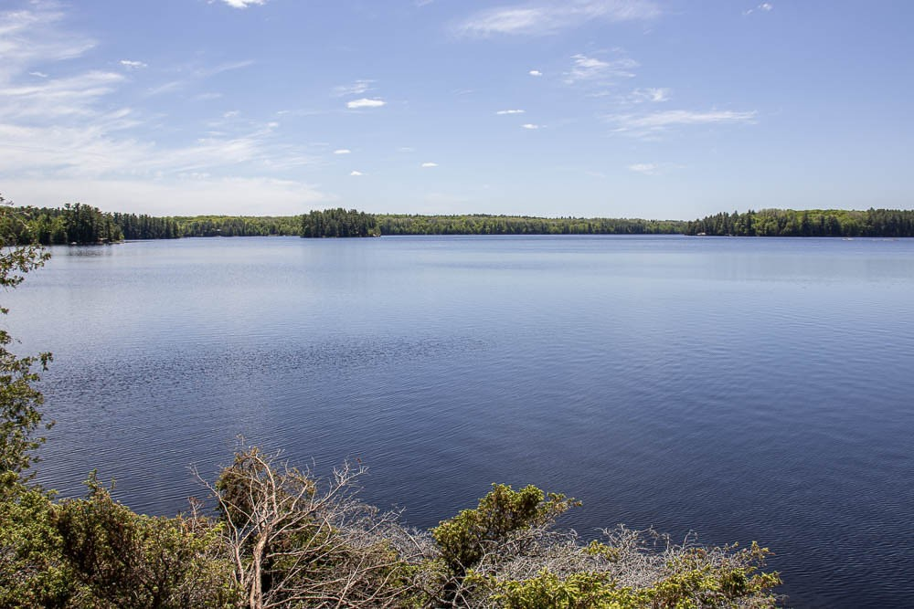 Southeasterly view Across Pine Lake