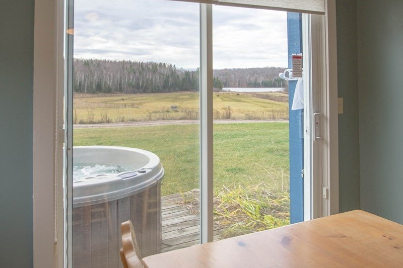 View from Dining Room (hot tub not currently available)