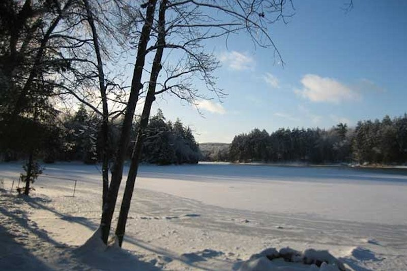 View of the Lake in Winter