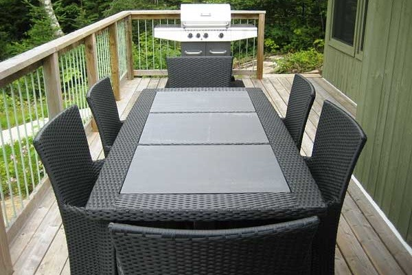 Deck with BBQ