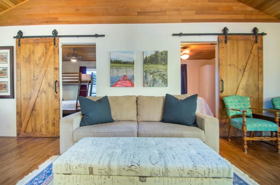 Living Room, Showing Bedroom Doors