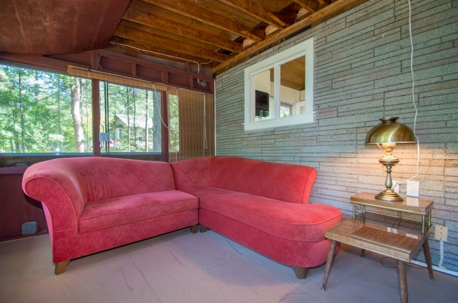 Comfortable Seating on Screened Porch