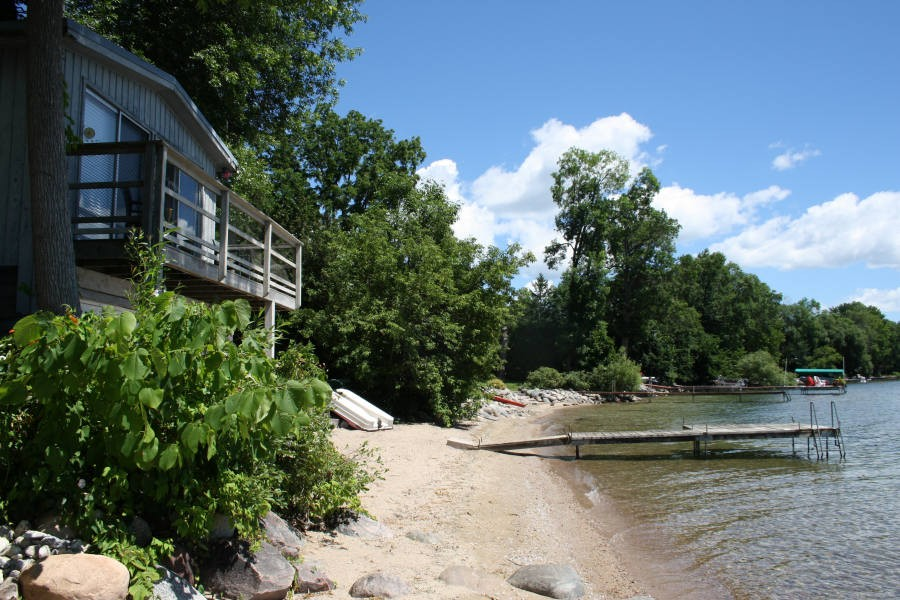 Beach, showing Boathouse Bunkie