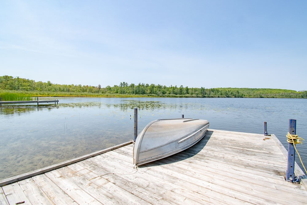 The Dock - with Rowboat