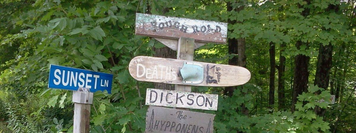 homemade direction signs