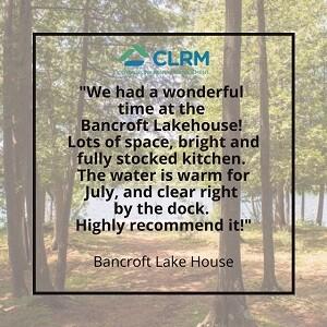 Bancroft Lake House - Review